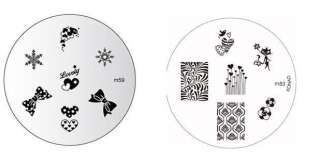 2X Konad Nail Art Image Plates M83 Kitty + M59 Lovely