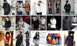 Korean Fashion Mens Front Zip Top Designed Hoodie Jacket 3 Colors *HOT