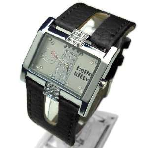 Open Band Crystal Wrist Watch in Black Color + Hello Kitty Promo Charm
