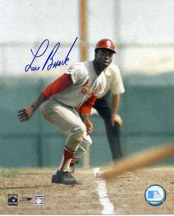 LOU BROCK SIGNED MLB BASEBALL ST LOUIS CARDINALS