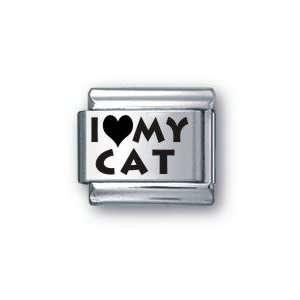 Body Candy Italian Charms Laser I Love My Cat: Jewelry