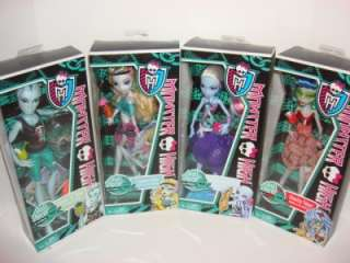 MONSTER HIGH Skull Shores Set Gillington Gil Webber Abbey Lagoona