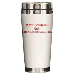 Funny Math Joke Humor Ceramic Travel Mug by CafePress