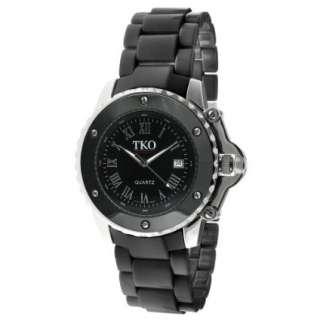 TKO ORLOGI Womens TK575 BK Genuine Ceramic Black Dial Watch