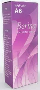 Hair COLOR Permanen Hair Cream Dye VIOLE PURPLE A6 |