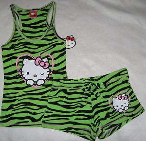 Hello Kitty Pajamas Junior Girls Size S M L XL NWT