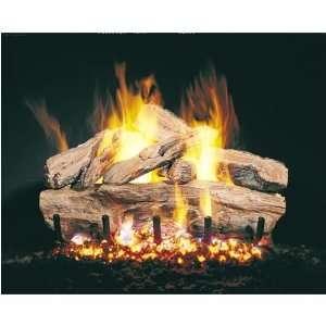 Peterson Gas Logs 24 Inch Cedar See Thru Vented Propane Gas Log Set W