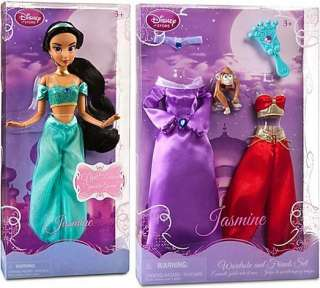 Disney Barbie Princess Jasmine doll & Wardrobe w Monkey