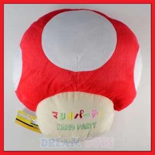 15 Super Mario Bros Red Mushroom Plush Cushion/Pillow