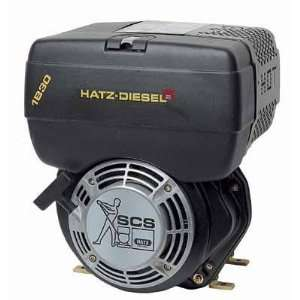 Hatz Diesel Engine with Electric Start   7 HP, 1in. x 2.84in. Shaft
