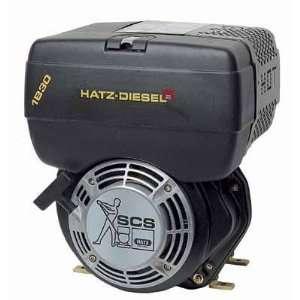 Hatz Diesel Engine with Electric Start   7 HP, 1in. x 2.84in. Shaft