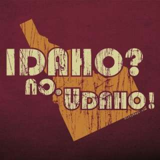 Idaho NO Udaho T shirt potatoes FUNNY potatoe gag WOMEN