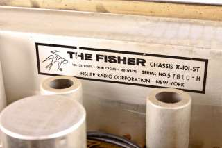 Vintage 1959 The Fisher Model X 101 ST Tube Stereo Master Control