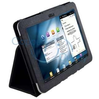 For Samsung Galaxy Tab 8.9 Tablet Premium Black Flip Leather Hard Case