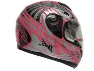 DUAL VISOR FULL FACE MOTORCYCLE HELMET DOT W/ SMOKE SUN SHIELD