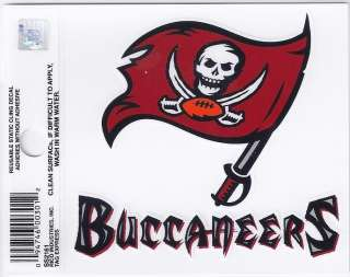Tampa Bay Buccaneers Small Static Car Truck Window Cling Decal New NFL