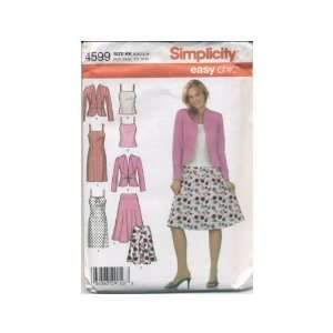Simplicity Pattern 4599 for Skirt, Dress, Top and Jacket, Size KK (8