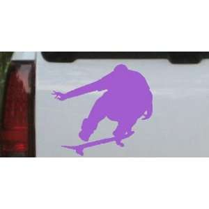 Purple 18in X 16.6in    Extream Skate Boarding Sports Car Window Wall