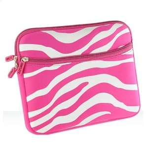 Hot Pink and White Zebra 10 and 10.1 Inch Mini Laptop Notebook Soft