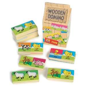 Wooden Farm Animal Domino Toys & Games